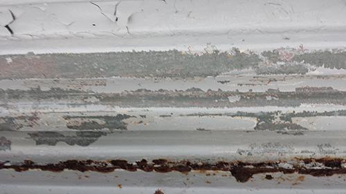 2013年9月8日 旭区さちが丘での塗装:剥がれ