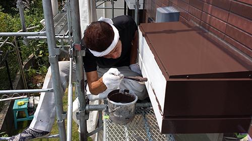 2013年8月12日 横浜市都筑区にて外壁塗装:鉄部1