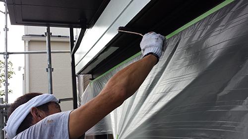 2013年8月12日 横浜市都筑区にて外壁塗装:鉄部3