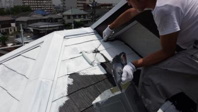2013年6月17日 稲城市にてキルコート屋根塗装