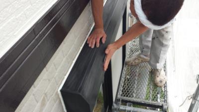 2013年6月25日 稲城市にて付帯塗装・ケレン・下塗り