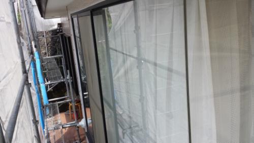 2013年7月18日 南区六ッ川で外壁塗装:養生