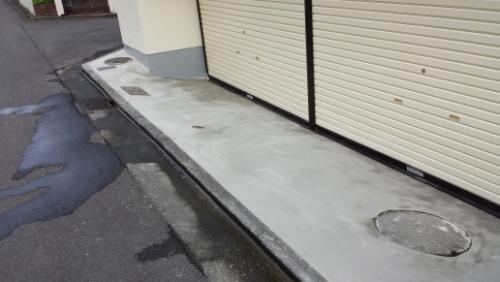 2013年7月30日 川崎市中原区ほしば邸:駐車場前下地補修