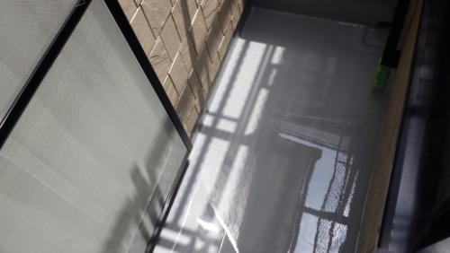 2013年8月3日 川崎市宮前区鈴木様:バルコニー防水(バルコニー二層目)