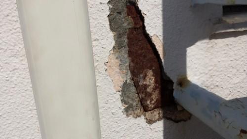 2013年8月7日 横浜市保土ヶ谷区の花物語外壁補修:ハツリ