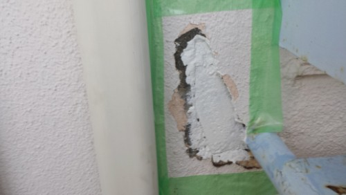 2013年8月7日 横浜市保土ヶ谷区の花物語外壁補修:錆止め