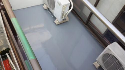 2013年8月10日 横浜市瀬谷区にてベランダ防水:ウレタン2