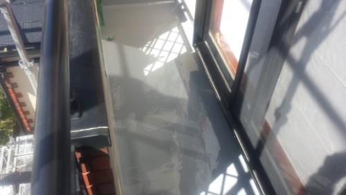 2014年3月6日 青葉区梅が丘:ウレタン防水2層目完了
