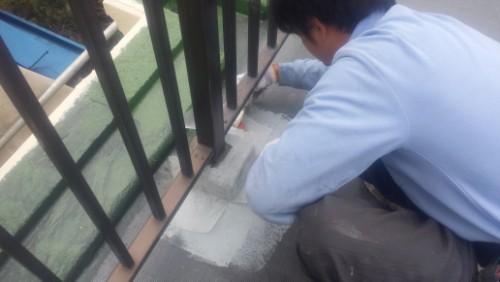 2014年3月19日 旭区市沢町:屋上防水・クロス張り2