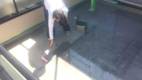2014年3月31日 青葉区:ウレタン防水・プライマー塗布