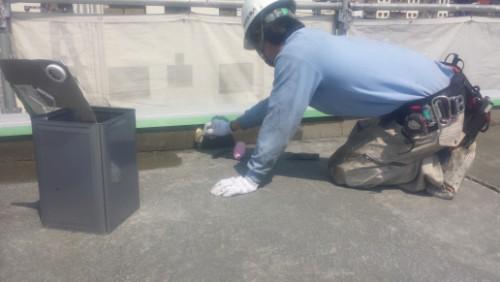 2014年4月8日 神奈川区子安通り:屋上プライマー塗布