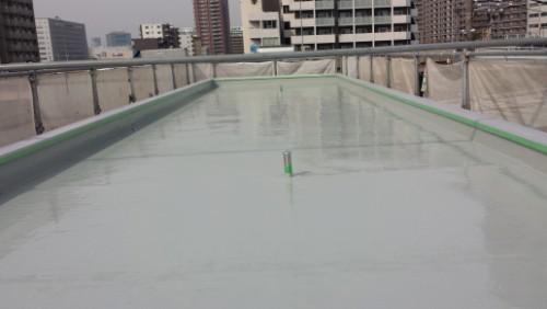 2014年4月16日 神奈川区:屋上ウレタン防水2層目