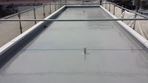 2014年4月19日 神奈川区:屋上防水トップコート塗布後