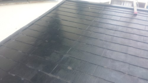 鎌倉市津:縁切り後の屋根全体