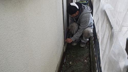2014年1月8日 横浜市神奈川区:足場養生1