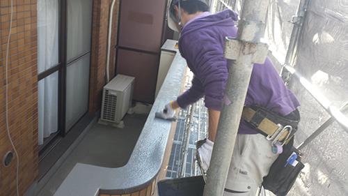 2014年1月17日 港北区マンション改修:モルタル