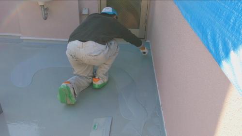 2014年1月23日 神奈川区防水工事:職人の足裏