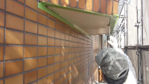 2014年1月23日 港北区ホルツハイム:軒塗り