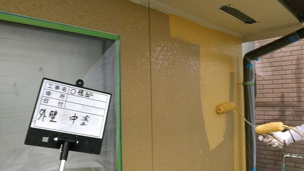 外壁 中塗り(2階)