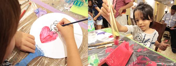 第9回 親子のペイント教室 夏休み図工クラブ の様子