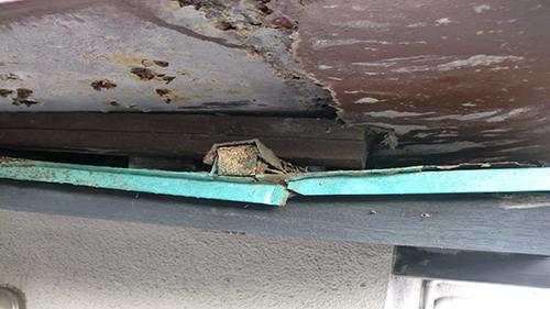 2013年11月20日 川崎市川崎区・鉄階段塗装:屋根