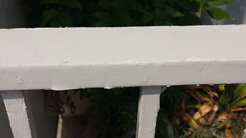2013年8月22日 横浜市保土ヶ谷区にて鉄部塗装:パテ後