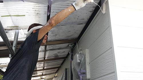 2013年7月27日 南区六ッ川にて外壁塗装:外壁中塗り2回目