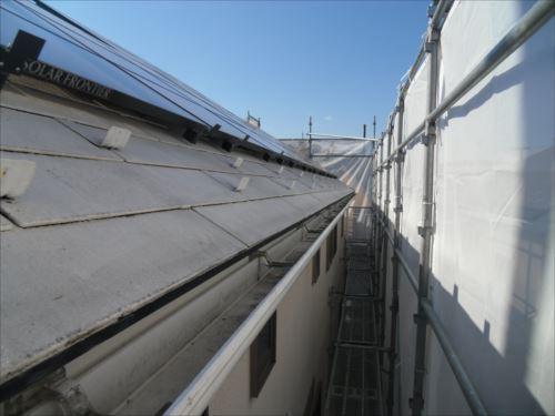 川崎市麻生区:洗浄前の屋根