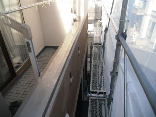 川崎市麻生区:洗浄後のベランダ