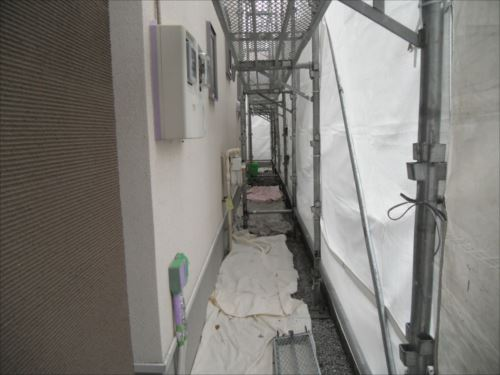 川崎市麻生区:外壁の養生
