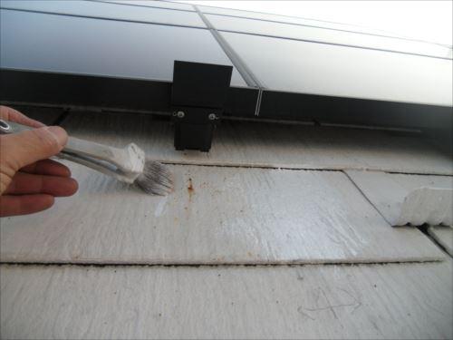 川崎市麻生区:屋根の鉄粉に錆び止め