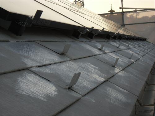 川崎市麻生区:屋根の鉄粉の錆び止め完了
