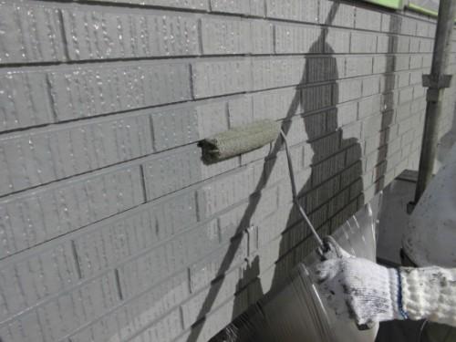 2014年1月24日 神奈川区白幡向町:1階外壁上塗り
