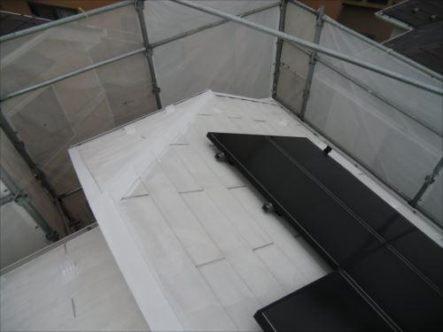 川崎市麻生区:屋根鉄部錆び止め01