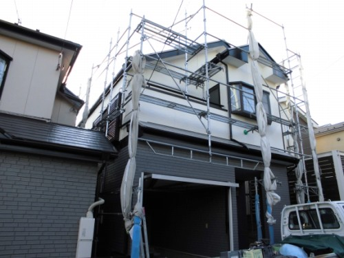 2014年1月31日 神奈川区白幡向町:塗装完了後の外観