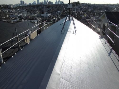 2014年1月31日 神奈川区白幡向町:屋根塗装完了後