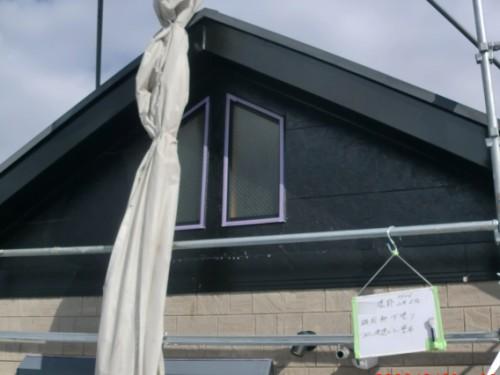2014年2月5日 戸塚区南舞岡:軒、破風下塗り後