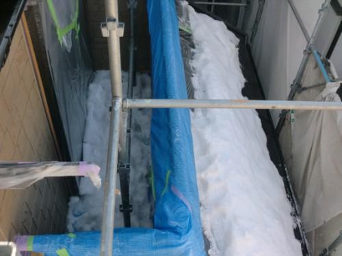 2014年2月17日 戸塚区南舞岡:ベランダの積雪