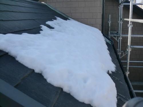 2014年2月17日 戸塚区南舞岡:下屋根の積雪
