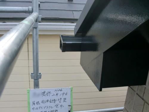2014年2月19日 戸塚区南舞岡:屋根鉄部の釘抜け