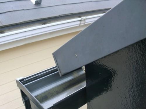 2014年2月19日 戸塚区南舞岡:屋根鉄部の釘打ち直し後
