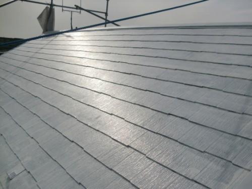 2014年2月19日 戸塚区南舞岡:屋根下塗り完了