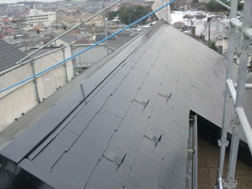 2014年2月20日 戸塚区南舞岡:屋根中塗り完了後