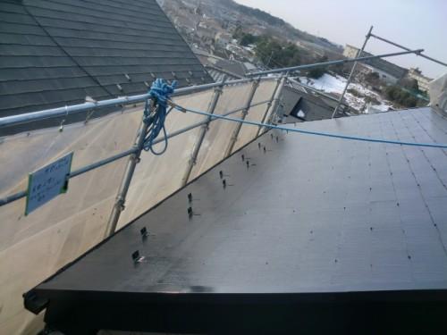 2014年2月21日 戸塚区南舞岡:屋根上塗り完了