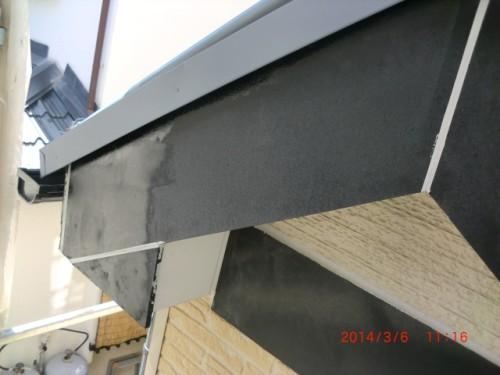 2014年3月6日 川崎市宮前区:破風下塗り