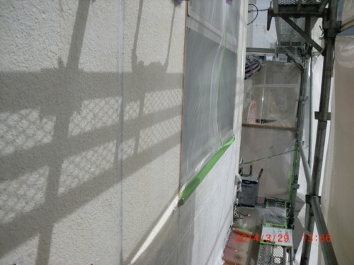 横浜市神奈川区:ALC外壁2回目下塗り3