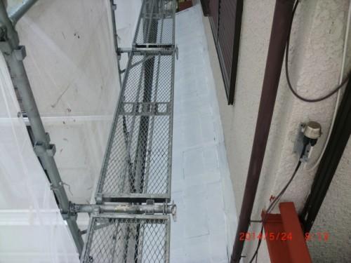 横浜市保土ヶ谷区:下屋根遮熱下塗り