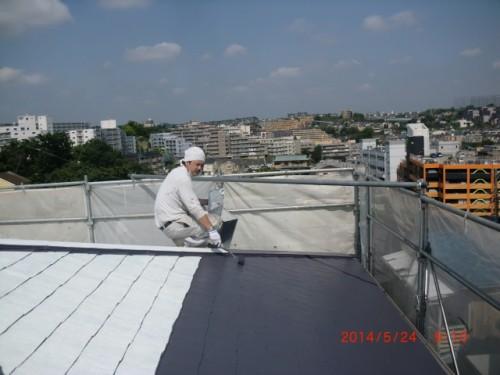 横浜市保土ヶ谷区:屋根遮熱中塗り