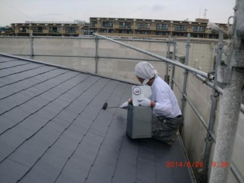 横浜市保土ヶ谷区:屋根遮熱上塗り