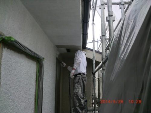 横浜市保土ヶ谷区:モルタル外壁下塗り